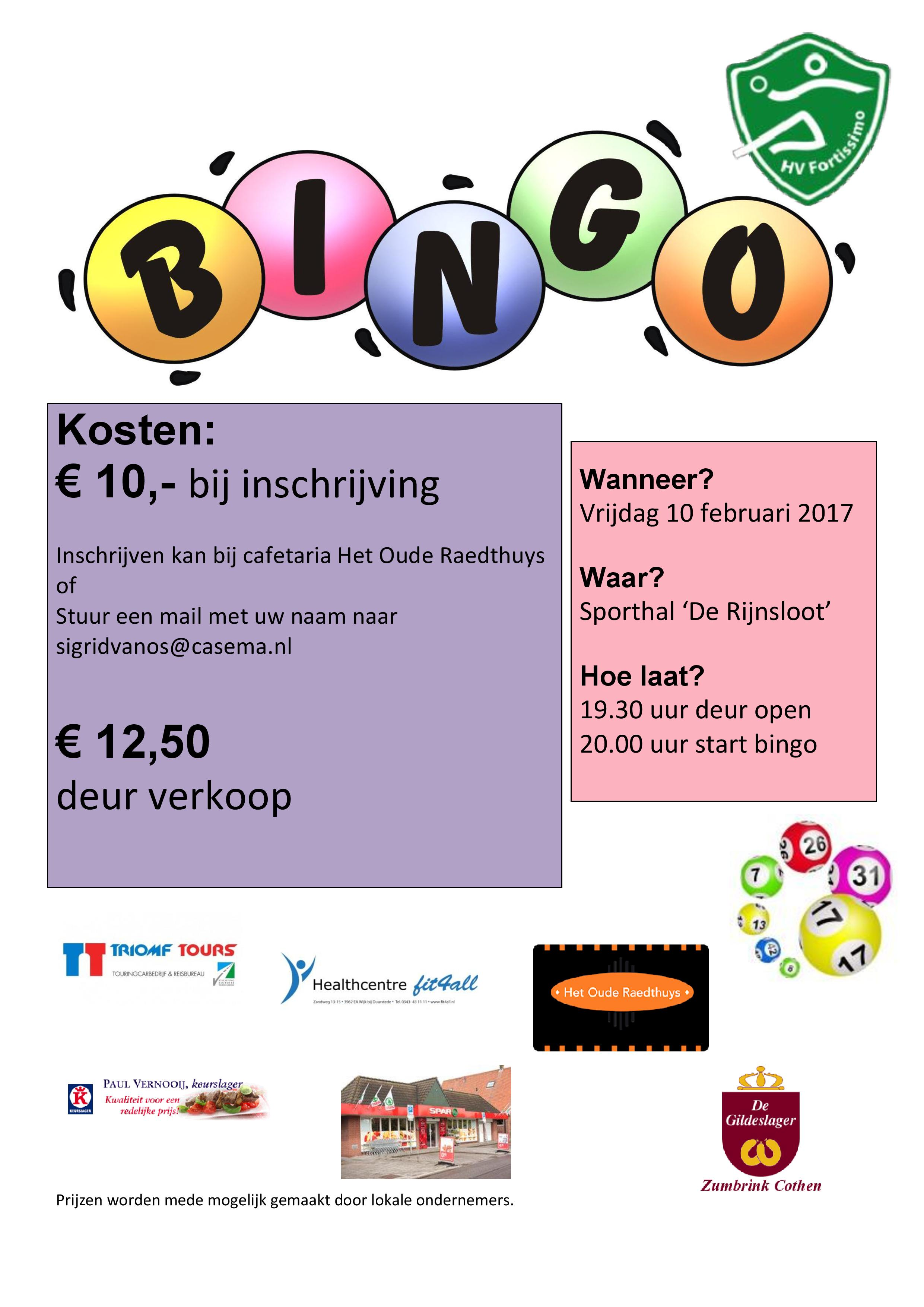 uitnodiging bingo 2017